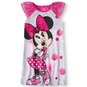 1921e84150 Girls  Minnie Mouse Pajama Nightgown