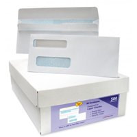 Double Window Envelopes. Self Seal with Security Tint Inside. Compatible with Quickbook and other Checks. Box of 500