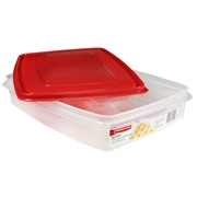 Rubbermaid Brilliance Egg Food Storage Container, Red