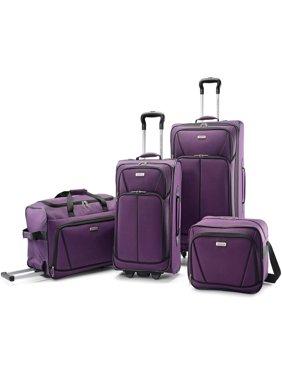 American Tourister 4 Piece Wheeled Softside Luggage Set