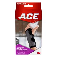 ACE Brand Reversible Splint Wrist Brace, Adjustable, Gray, 1/Pack