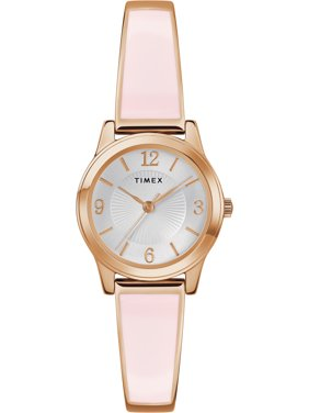 Timex Women's Stretch Bangle 25mm Blush/Rose Gold-Tone Watch, Expansion Band