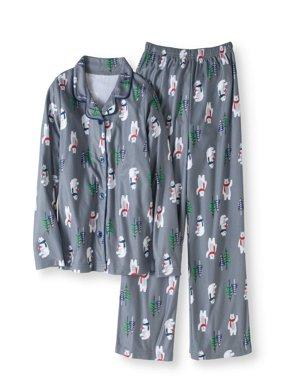 Family Pajamas Baby Toddler Polar Bear Notch Collar Pajama 2pc Set