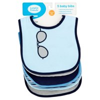 Luvable Friends Baby Boy and Girl Drooler Bib with PEVA Back, 5-Pack - Airplane
