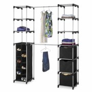 Whitmor Deluxe Double Rod Organizer Silver / Black