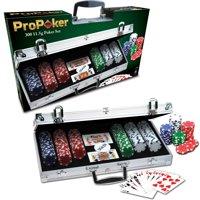 ProPoker 300 11.5g Poker Chips In Aluminum Case