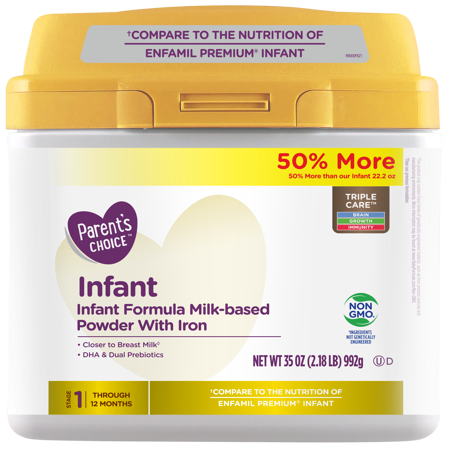 Parent's Choice Non-GMO Premium Infant Formula with Iron, 35 (Hbh Formula)