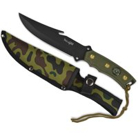 Yes4All Hunting Survival Fixed Blade Knife / Tactical Knife with Sheath – Full Tang Camping Knife Set – Hunting Dagger Knife / Tactical Dagger – H266A