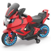 HOVERHEART Kids Electric Power Motorcycle 6V Ride On Bike Red