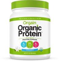 Orgain Organic Vegan Protein Powder, Vanilla, 21g Protein, 1.0 Lb
