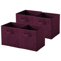 Sorbus Foldable Storage Cube Basket Bin (6pk) Purple