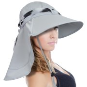 63dd438562b sun hat for women large brim uv sun protection with neck flap hat for  outing fishing