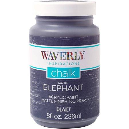Waverly Inspirations Elephant Matte Chalk Finish Acrylic Paint, 1 Each, 8 Fl. Oz.