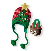 c679884726dd6 Holiday Time Festive Christmas Tree Hat and Reindeer Earwarmer 2-Piece Set
