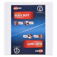 """Avery 1"""" Heavy Duty Binder, One Touch EZD Ring, White, 275 Sheets"""