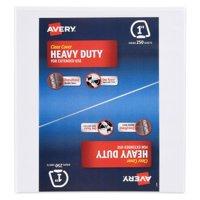 Avery(R) Heavy-Duty Binder, One Touch Rings, 250-Sheet Capacity, DuraHinge(TM), White, 1 inch (79138)