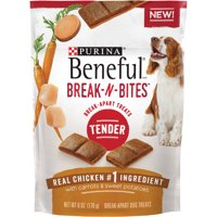 Purina Beneful Break-N-Bites Tender Real Chicken With Carrots & Sweet Potatoes Dog Treats 6 oz. Pouch