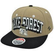 647e7e35db0177 NCAA Wake Forest Demon Deacons Zephyr Block Buster Snapback Flat Bill Hat  Cap