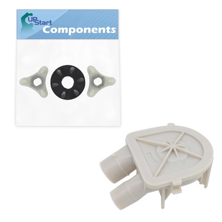 3363394 Washing Machine Pump & 285753A Washer Motor Coupler Replacement for Whirlpool LA5525XTW0 Washer - Compatible with WP3363394 Water Pump Assembly & 285753A Motor Coupling Kit