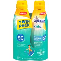 Coppertone Kids Sunscreen Spray SPF 50, Twin Pack (5.5 oz Each)