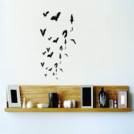 Do It Yourself Wall Decal Sticker Vampire Bats Flying Graphic Home Halloween Party Decoration Kids Boy Girl 30x20](Easy Do It Yourself Scary Halloween Decorations)