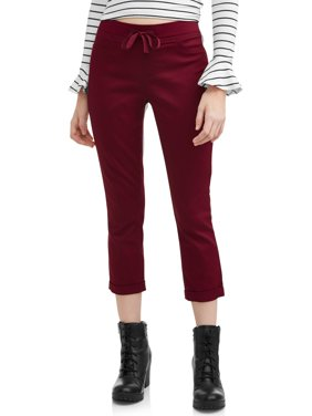Juniors' Pull-On Dorm Crop Capri Pants (Denim and Color Washes)