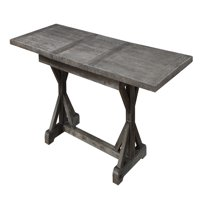 Emerald Home Paladin Butterfly Leaf Dining Table, Rustic Charcoal Gray