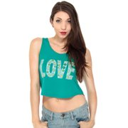 57a5ba8a22267 Summer Sexy Junior Cotton Sleeveless Love Print Loose Fir Crop Top Tank Top