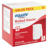 Equate Rolled Gauze Value Pack, 5 count