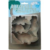 Fox Run Dinosaur Cookie Biscuit Pastry Dough Cutter Jello Craft Mold 4-Piece Set