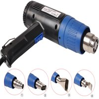 Costway Heat Gun Hot Air Gun Dual Temperature+4 Nozzles Power Tool 2000 W Heater Gun