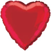 Foil Balloon, Heart, 18 in, Red, 1ct