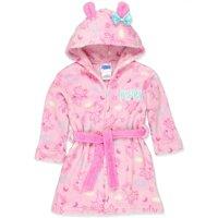 Peppa Pig Toddler Girls Plush Fleece Bathrobe Robe, Hooded, Size: 5T