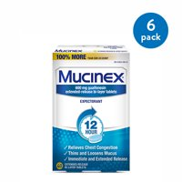 Mucinex 12 Hour Chest Congestion Expectorant Relief Tablets, 40 Count, Thins & Loosens Mucus