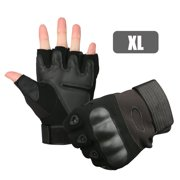 Outdoor Tactical Motorcycle Half Finger Gloves, Ventilate Wear-resistant Hard Knuckle and Foam Protection