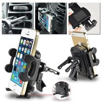 Insten Car Air Vent Phone Holder Mount (Width to 4.3 inch) for Smartphone iPhone 7 6 6S Plus SE 5S 4S / Galaxy S7 S6 S5 Edge Note 5 On5 Grand Prime Core J1 J3 J5 J7 / Moto G E X / LG K7 Stylo 2 Stylus