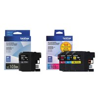 Brother Genuine LC103 4-Color High Yield Ink Cartridge Set (LC103BK, LC103CL)