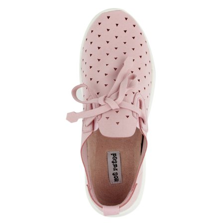 Not Rated Womens Marlum Laser Cut Fashion Sneaker (Pink, - Punk Shoes