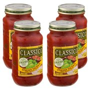 (4 Pack) Classico Italian Sausage with Peppers and Onions Pasta Sauce, 24 oz Jar
