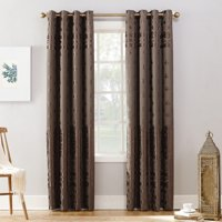 Sun Zero Elidah Velvet Texture Medallion Blackout Grommet Curtain Panel