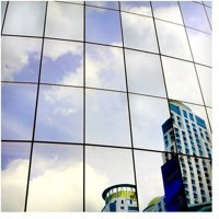 BDF S05 Daytime Privacy One Way Mirror Silver 5 Window Film 36in X 24ft by BuyDecorativeFilm