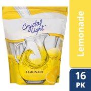 (4 pack) Crystal Light Lemonade Drink Mix, 8.6 oz Pack, 16 Servings Per Pack