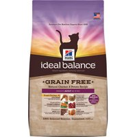 Hill's Ideal Balance Adult Grain Free Natural Chicken & Potato Recipe Dry Cat Food, 11 lb bag