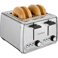 Hamilton Beach Modern Chrome 4 Slice Toaster | Model# 24791