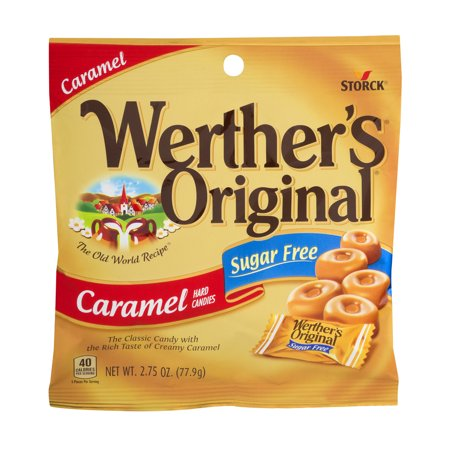 Storck Werther's Original Sugar-Free Caramel Hard Candies, 2.75 Oz.