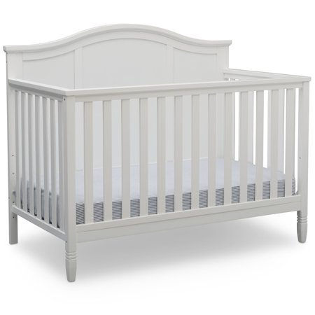 Delta Children Madrid 4-in-1 Convertible Baby Crib, Bianca White Da Vinci Emily Baby Furniture