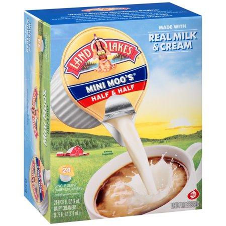 Mini Cat Creamer - Land O Lakes Mini Moos Half & Half Dairy Creamers, 24 Ct