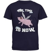 When Pigs Fly The Time Is Now Navy Youth T-Shirt