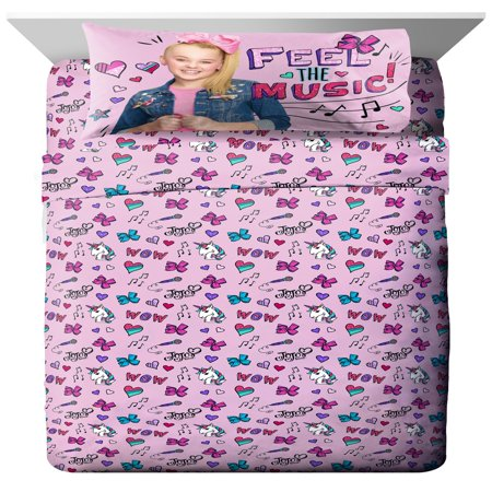 Nickelodeon JoJo Siwa Kid's Bedding Sheet Set](Bed Sheet Ghost Halloween)
