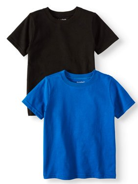 Solid Crew Neck T-Shirts, 2pc Multi-Pack (Toddler Boys)